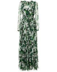 ebf6244f Dolce & Gabbana - White Geranium Printed Maxi Dress - Lyst