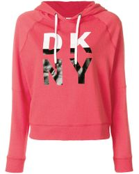 DKNY - Logo Hooded Sweatshirt - Lyst