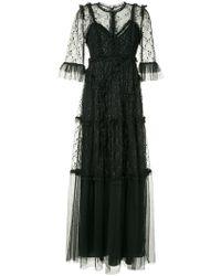 Needle & Thread - Vestido de fiesta largo con bordado floral - Lyst
