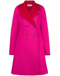 Emilio Pucci - Contrast Double-breasted Coat - Lyst
