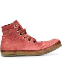A Diciannoveventitre - Distressed Leather Trainers  - Lyst