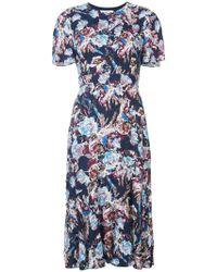 Prabal Gurung - Floral Flared Midi Dress - Lyst