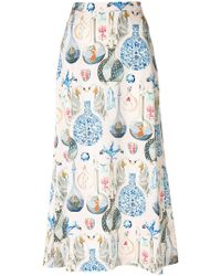 Temperley London - Love Potion Midi Skirt - Lyst