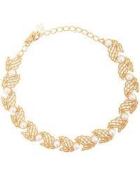 Oscar de la Renta - Pearl-embellished Necklace - Lyst