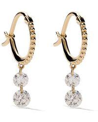 Raphaele Canot - 18kt Yellow Gold Set Free Double Drop Diamond Earrings - Lyst