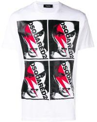 DSquared² - T-Shirt mit grafischem Print - Lyst