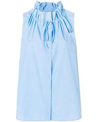 Ermanno Scervino - Frilled Neck Shirt - Lyst