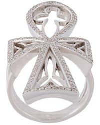 Loree Rodkin - Diamond Maltese Cross Ring - Lyst