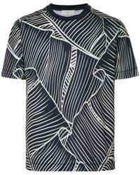 Cerruti 1881 - Leaf-print T-shirt - Lyst
