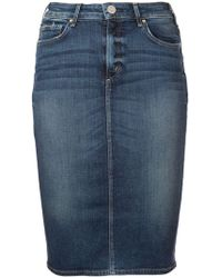 McGuire Denim - Denim Pencil Skirt - Lyst