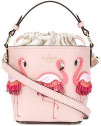 Kate Spade - Flamingo Embellished Tote Bag - Lyst