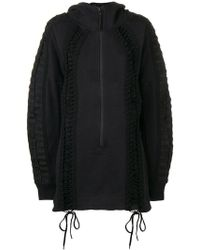 KTZ - Lace-up Hoodie Dress - Lyst