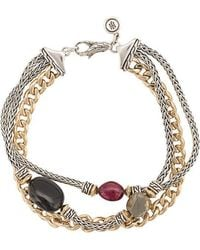 John Hardy - Adwoa Aboah 18kt Yellow Gold, Silver And Mixed Stone Classic Chain Triple-row Bracelet - Lyst