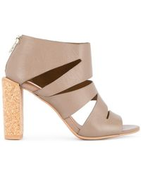 e75263b7466a Lyst - See By Chloé T-Bar Leather Sandals in Brown