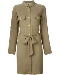 Heidi Klein - 'tobago' Belted Shirt Dress - Lyst
