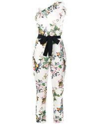 Liu Jo - Floral Tailored Jumpsuit - Lyst