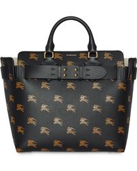 ef9a88fd713e Burberry The Small Equestrian Knight Leather Belt Bag in Black ...
