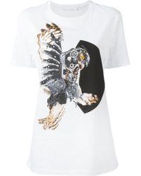 Neil Barrett - Mechanical Owl Print T-shirt - Lyst