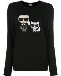 Karl Lagerfeld - Karl & Choupette Ikonik Sweatshirt - Lyst