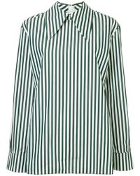 Marni - Striped Oversized Collar Shirt - Lyst