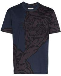 Valentino - Tiger Print Short Sleeve T-shirt - Lyst