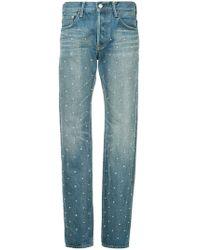 Tu Es Mon Tresor - Polka Dot Pearl Straight Jeans - Lyst