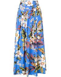 Diane von Furstenberg - Pleated Floral Skirt - Lyst
