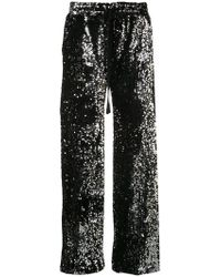 MILLY - Embellished Flared Trousers - Lyst
