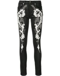 Roberto Cavalli - Baroque Embroidered Jeans - Lyst