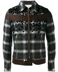 Kolor - Stylised Plaid Jacket - Lyst