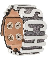 Moschino - Logo Cuff Bracelet - Lyst