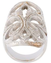 Loree Rodkin - Xl Cigar Band Diamond Ring - Lyst