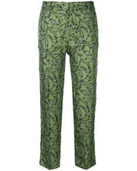 Christian Wijnants | Bootcut Floral Print Trousers | Lyst