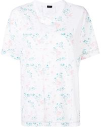 JOSEPH - Printed Panel Short Sleeve T-shirt - Lyst