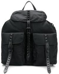 Prada - Studded Straps Backpack - Lyst
