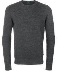 Zanone - Textured Knit Jumper - Lyst