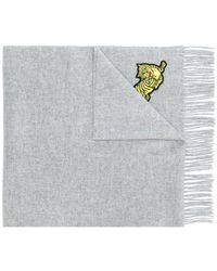 KENZO - Tiger Embroidered Scarf - Lyst