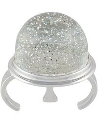 MM6 by Maison Martin Margiela - Round Sparkly Ring - Lyst