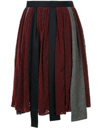 Kolor - Patchwork Asymmetric Skirt - Lyst