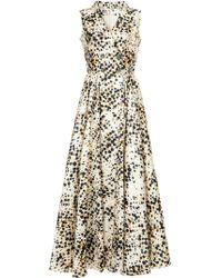 Alexis Mabille - Polka Dot Wrap Dress - Lyst