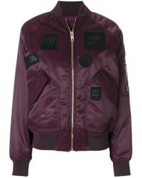 Versus - Patch Bomber Jacket - Lyst