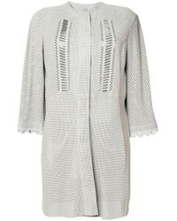 DROMe - Perforated Coat - Lyst