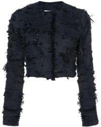 Kimora Lee Simmons - Cropped Jacket With Eyelash Fringe - Lyst