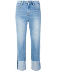 SJYP - Turn Up Hem Jeans - Lyst