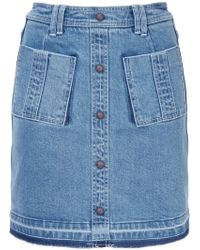 99b21c6a2 Lyst - Marc Jacobs Denim Skirt With Zip Pockets in Blue