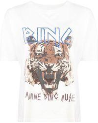 Anine Bing - Camiseta con motivo de tigre - Lyst