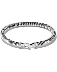 David Yurman - Cable Collectibles Diamond Buckle Bracelet - Lyst