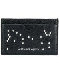 Alexander McQueen - Studded Skull Card Holder - Lyst