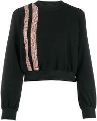 Just Cavalli - Snake Effect Stripe Sweatshirt - Lyst