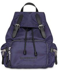 Burberry - The Medium Rucksack In Logo Print Nylon - Lyst